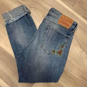 Lucky Brand Ava Skinny jeans, embroidered size 4